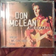 CDs de Música: DON MCLEAN - AMERICAN PIE (COMPILATION) - 2002 - CD. Lote 173684818