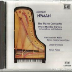 CDs de Música: CD MICHAEL NYMAN : THE PIANO CONCERTO / WHERE THE BEE DANCES . Lote 173798863