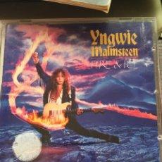 CDs de Música: YNGWIE MALMSTEEN-FIRE & ICE-1992-PRIMERA EDICION EUROPE-LIBRETO GORDO. Lote 173870150