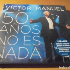 CDs de Música: RAR 2 CD'S & DVD. VÍCTOR MANUEL. 50 AÑOS NO ES NADA. PRECINTADO. SEALED. . Lote 174049957