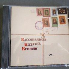 CDs de Música: RACCOMANDATA RICEVUTA RITORNO - PER UN MONDO DI CRISTALLO - CD. Lote 174129742