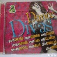 CDs de Música: DOBLE CD DANCE DIVAS GLORIA GAYNOR DONNA SUMMER. Lote 174219909