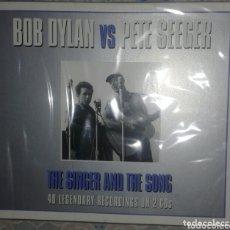 CDs de Música: BOB DYLAN VS PETE SEEGER: THE SINGER AND THE SONG: CD DOBLE: PRECINTADO. Lote 173355405
