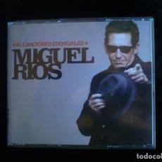 CDs de Música: MIGUEL RIOS 45 CANCIONES ESENCIALES - CONTIENE 3 CD'S MAS LIBRETO COMO NUEVOS. Lote 174238418