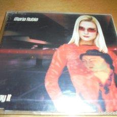 CDs de Música: RAR MAXI CD. MARIA RUBIA. SAY IT. 5 TRACKS. MADE IN SPAIN. Lote 174314647