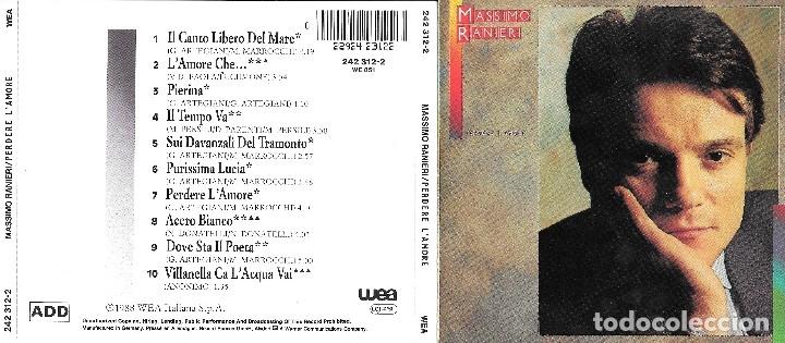 MASSIMO RANIERI - PERDERE L'AMORE (Música - CD's Pop)