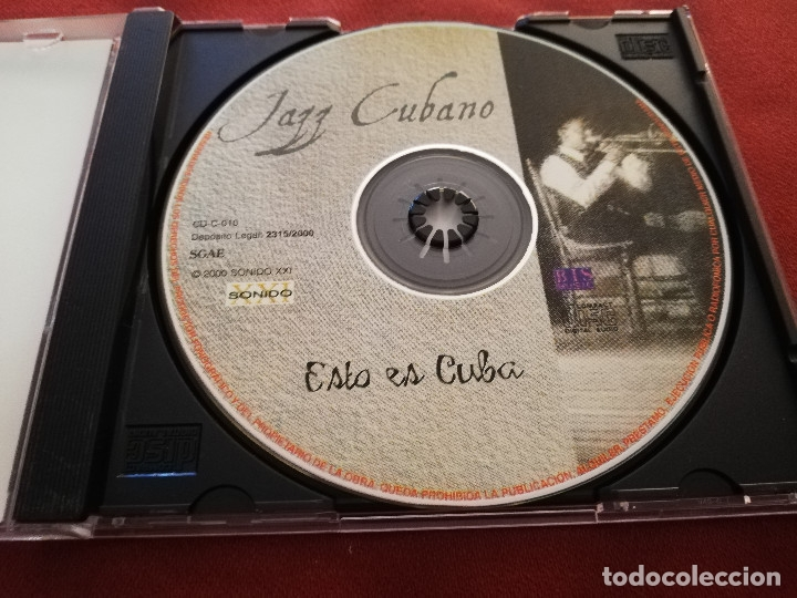 CDs de Música: JAZZ CUBANO. ESTO ES CUBA (CD) - Foto 2 - 174392022