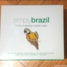 CDs de Música: COLECCIÓN CAJA 4 CDS SIMPLY BRASIL MÚSICA BRASILEÑA. COMO NUEVO MUY BUEN ESTADO DE CONSERVACIÓN. Lote 174397700