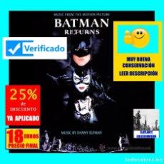 CDs de Música: BATMAN RETURNS - BANDA SONORA / MÚSICA DE LA PELÍCULA - DANNY ELFMAN - MUY BUENA CONSERVACIÓN - 18 €. Lote 174403743