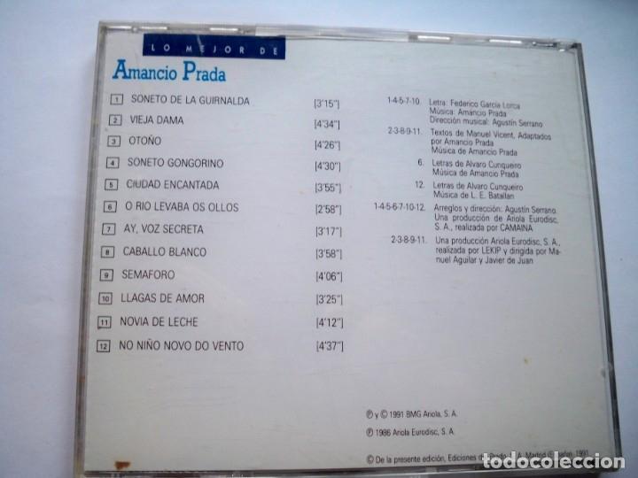CDs de Música: LO MEJOR DE AMANCIO PRADA - Foto 2 - 174409594