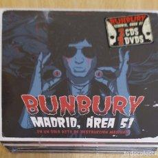 CDs de Música: BUNBURY (MADRID, AREA 51) 2 CD'S + 2 DVD'S 2014 * PRECINTADO. Lote 174513592