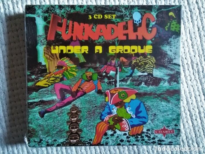 FUNKADELIC - '' UNDER A GROOVE '' 3 CD + BOOKLET 36-PAGE BOX SET 2003 UK SEALED (Música - CD's Jazz, Blues, Soul y Gospel)