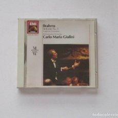 CDs de Música: BRAHMS - PHILHARMONIE ORCHESTRA, CARLO MARIA GIULINI. Lote 174952029
