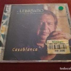 CDs de Música: EL LEBRIJANO CON LA ORQUESTA ARÁBIGO ANDALUZA. CASABLANCA (CD). Lote 174959487