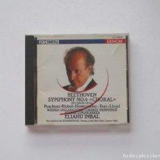 CDs de Música: BEETHOVEN, SYMPHONY NO 9 CHORAL - CHORUS VIENNENSIS WIENER SYMPHONIKER, ELIAHU INBAL. Lote 174961687