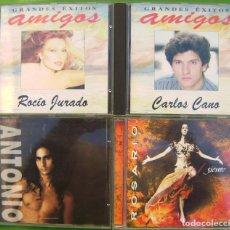 CDs de Música: LOTE DE 4 CDS - ROCIO JURADO, CARLOS CANO, ROSARIO, ANTONIO FLORES. Lote 174979147