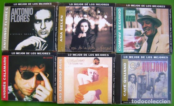 LOTE 6 CDS -LO MEJOR DE LOS MEJORES- AUTE, ANA BELEN, CALAMARO, CAFE QUIJANO, COMPAY SEGUNDO (Música - CD's Pop)