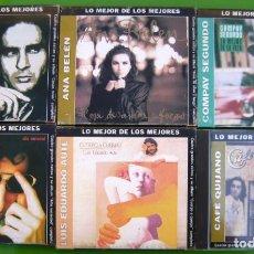 CDs de Música: LOTE 6 CDS -LO MEJOR DE LOS MEJORES- AUTE, ANA BELEN, CALAMARO, CAFE QUIJANO, COMPAY SEGUNDO. Lote 174983070