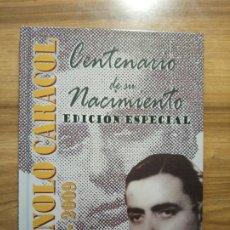 CDs de Música: MANOLO CARACOL 1909-2009. CENTENARIO DE SU NACIMIENTO. EDICIÓN ESPECIAL. LIBRO+2 CD. Lote 174995297