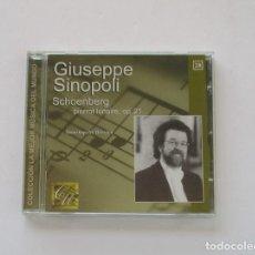 CDs de Música: SCHOENBERG, PIERRTO LUNAIRE OP 21 - GIUSEPPE SINOPOLI. Lote 175003659