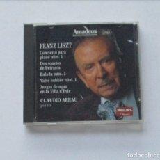 CDs de Música: FRANZ LISZT - PIANO CLAUDIO ARRAU. Lote 175019804