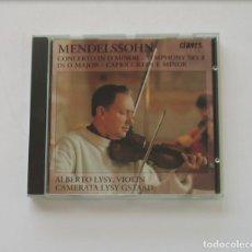 CDs de Música: MENDELSSOHN - ALBERTO LYSY VIOLIN. Lote 175085820