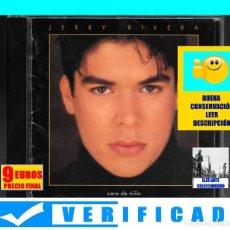 CDs de Música: JERRY RIVERA - CARA DE NIÑO - 1993 - SONY - VERIFICADO - BUEN ESTADO GENERAL - 9 EUROS. Lote 175152704