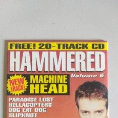 CDs de Música: CD HAMMERED - VOLUMEN 6 - METAL HAMMER - MACHINE HEAD, PARADISE LOST, HELLACOPTERS, SICK OF IT ALL. Lote 175214745