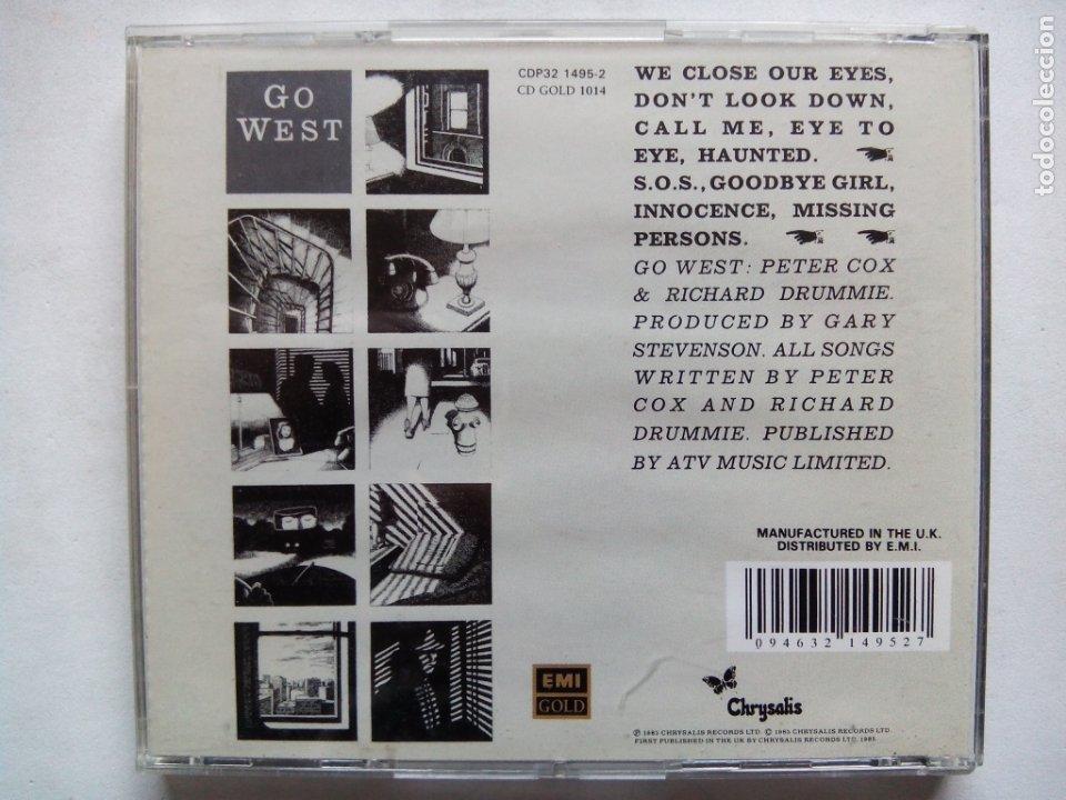 CDs de Música: GO WEST. CD CHRYSALIS CDP32 1495-2. UK 1996. PETER COX. SYNTH-POP. - Foto 4 - 175292219
