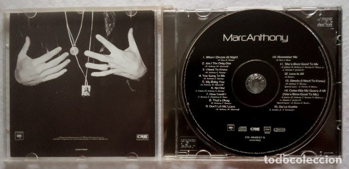 CDs de Música: MARC ANTHONY - CD 1999 - COLUMBIA - Foto 2 - 175320052