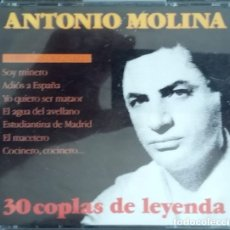 CDs de Música: ANTONIO MOLINA (2CD) - 30 COPLAS DE LEYENDA. Lote 175325392