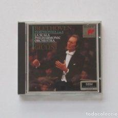 CDs de Música: BEETHOVEN, SYMPHONIES 2 & 8 - LA SCALA PHILHARMONIE ORCHESTRA, CARLO MARIA GIULINI. Lote 175383040