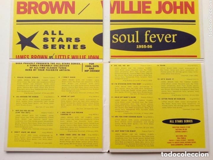 CDs de Música: CD : JAMES BROWN - LITTLE WILLIE JOHN - Soul Fever Selected Singles 1955-56 - All Stars Series - Foto 5 - 175451487