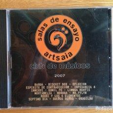 CDs de Música: SALAS DE ENSAYO ARTSAIA. CLUB DE MÚSICOS 2007: BARUA, MR. FLYN, LINGUA MORTIS.... Lote 175452687