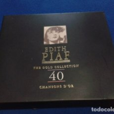 CDs de Música: CD ESTUCHE DOBLE CD ( EDITH PIAF – THE GOLD COLLECTION - 40 CHANSONS D'OR ) 1997 RETRO RECORDS. Lote 175463739