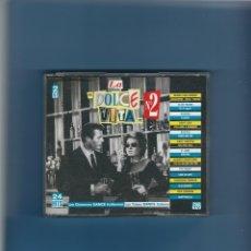 CDs de Música: 2 CD'S - LA DOLCE VITA 2 - 24 CANCIONES ITALO DANCE. Lote 175503880