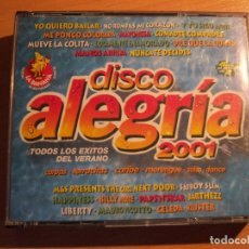 CDs de Música: DISCO ALEGRIA 2001 (4 CDS RECOPILATORIO). Lote 175526427