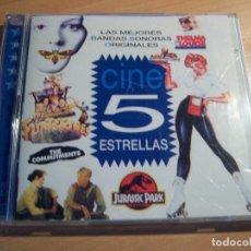 CDs de Música: CINE 5 ESTRELLAS (BANDAS SONORAS) 2 CDS. Lote 175529137