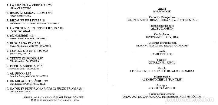 CDs de Música: NELSON NED - JESÚS TE AMA - Foto 2 - 175692123