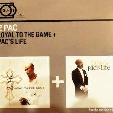 CDs de Música: CD BOX (2 CD) 2PAC – LOYAL TO THE GAME + PAC´S LIFE,2000, COMO NUEVO, SIN USO (NM_NM). Lote 175769427