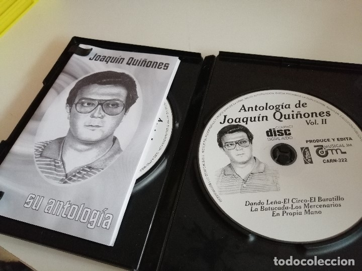 CDs de Música: C-REG80 JOAQUIN QUIÑONES SU ANTOLOGIA VERSION ORIGINAL 2 CD Y LIBRETO - Foto 3 - 175789678