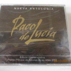 CDs de Música: PACO DE LUCIA , NUEVA ANTOLOGIA PRECINTADA , EDICION CONMEMORATIVA PREMIO 2004 PPE ASTURIAS ARTES . Lote 175830588
