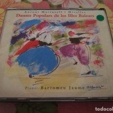 CDs de Música: DANSES POPULARS DE LES ILLES BALEARS (ANTONI MARTORELL I MIRALLES) 2 CD. Lote 175841798