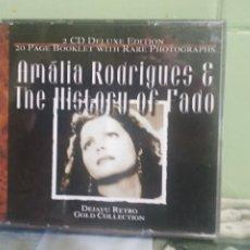 CDs de Música: AMALIA RODRIGUES & THE HISTORY OF FADO DOBLE CD 2001 PEPETO. Lote 175872333