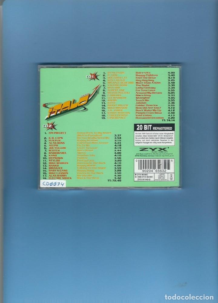 CDs de Música: 2 CD'S - ITALO DANCE CLASSICS - 37 CANCIONES - Foto 2 - 175888287