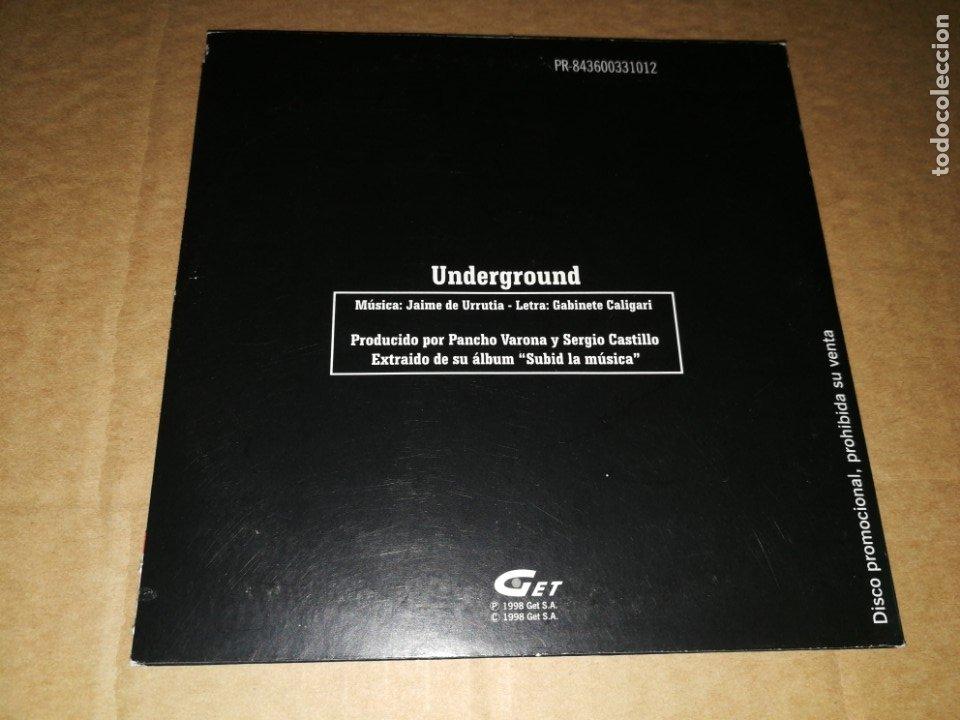 CDs de Música: GABINETE CALIGARI Underground CD SINGLE PROMOCIONAL CARTON AÑO 1998 JAIME URRUTIA PANCHO VARONA - Foto 2 - 175973798