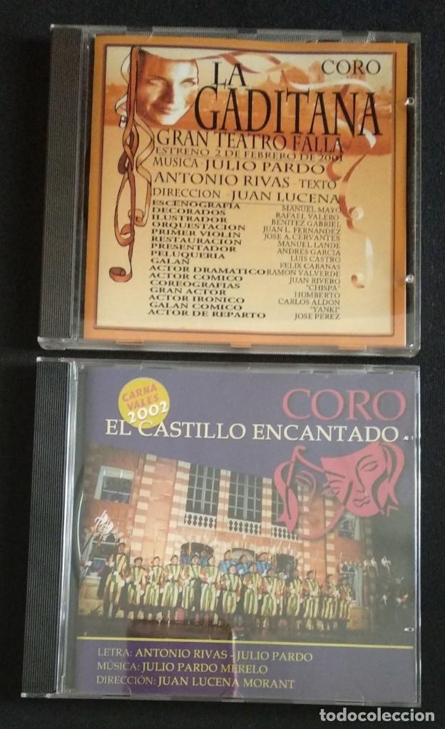 LOTE CD COROS JULIO PARDO 2001 Y 2002 CARNAVAL CÁDIZ (Música - CD's Flamenco, Canción española y Cuplé)
