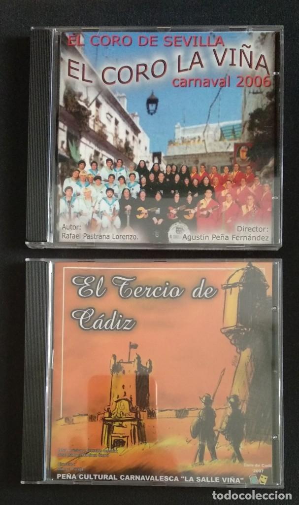 LOTE 2 CD COROS 2006 Y 2007 CARNAVAL CÁDIZ (Música - CD's Flamenco, Canción española y Cuplé)