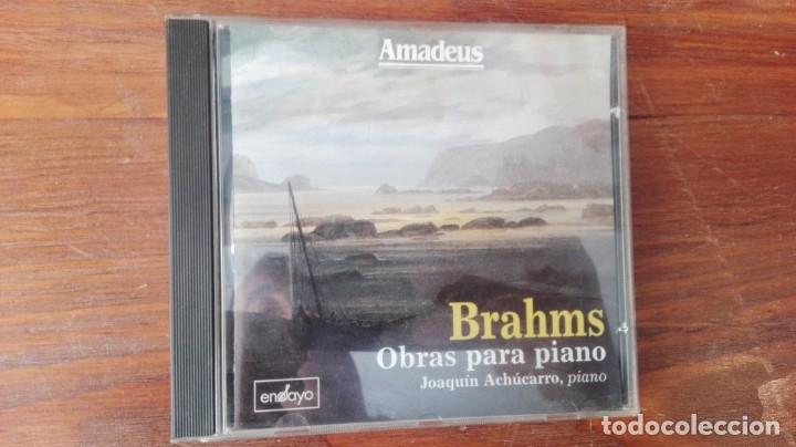 CD BRAHMS OBRAS PARA PIANO (Música - CD's Clásica, Ópera, Zarzuela y Marchas)