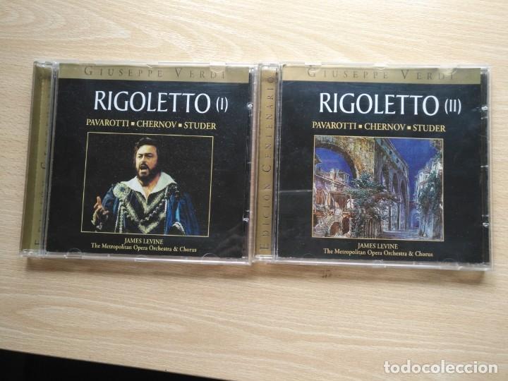 2 CD RIGOLETTO - GIUSEPPE VERDI - PAVAROTTI CHERNOV STUDER- ED. CENTENARIO (Música - CD's Clásica, Ópera, Zarzuela y Marchas)